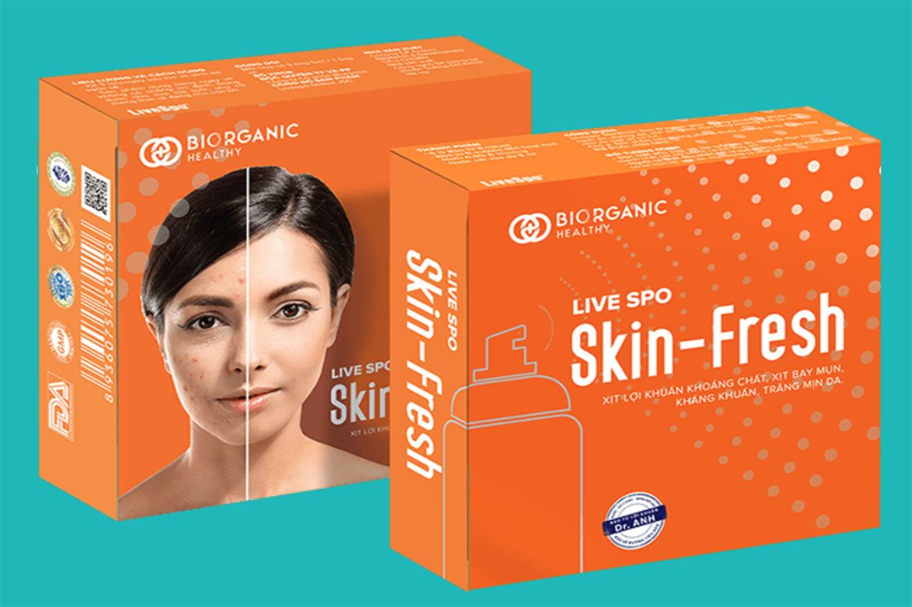 Skin Fresh: xịt lợi khuẩn đặc trị mụn hiệu quả tức thì